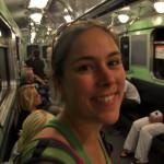In de metro in Boedapest
