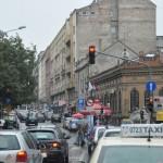 Te druk verkeer in Belgrado, we hebben hier twee uur vast gestaan
