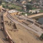 Jaipur amber fort, met olifanten omhoog zoals vroeger