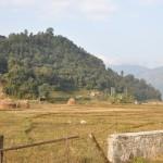 Vanuit onze kampeerplek in Pokhara