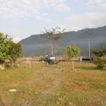 Onze kampeerplek in Pokhara