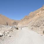 Gravel road naar de Mount Everest