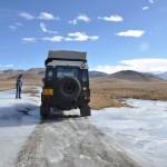 Onderweg naar het base camp wat obstakels