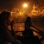 Bekijken van de ceremonie vanuit ons bootje
