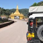 De grens met Laos!