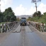 De brug onderweg