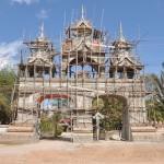 Tempel in de steigers, net de efteling!