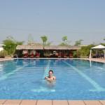 Ons zwembad in Phnom Penh