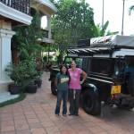 Bij het guesthouse op Riem Reap