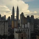 Uitzicht op de Petronas torens