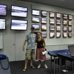 In de control room