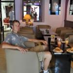 Broodje kroket in Melaka in (vertaald) Cafe Holland (met een Duits sprekende eigenaar :) )