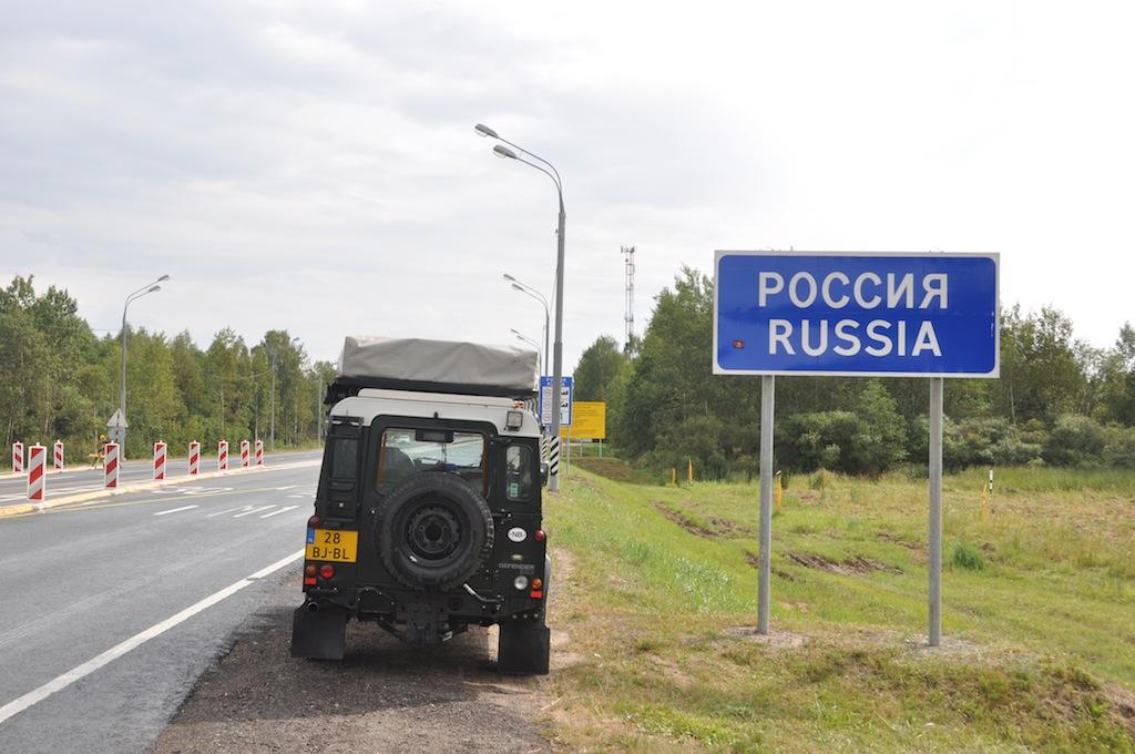 De grens met Rusland!