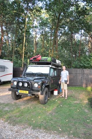 Op de tweede camping