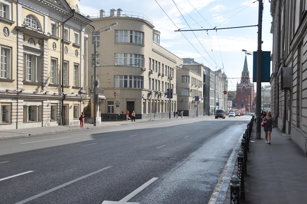 Een straat in Moskou