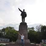 Lenin standbeeld Brest (Belarus)