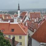 Uitzicht over de oude stad Tallinn