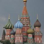De beroemde kerk op het rode plein