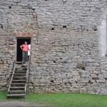 Oud klooster onderweg