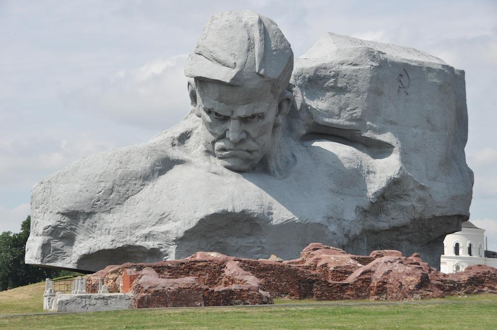 Valour monument in het fort van Brest, Belarus