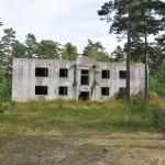 Overblijfsel Soviet gebouwen Hiiumaa