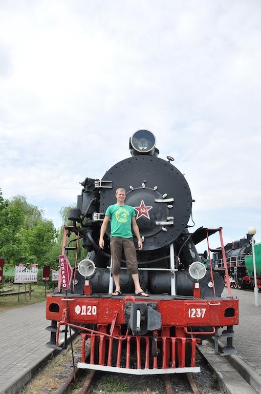 Trein museum in Brest, Belarus