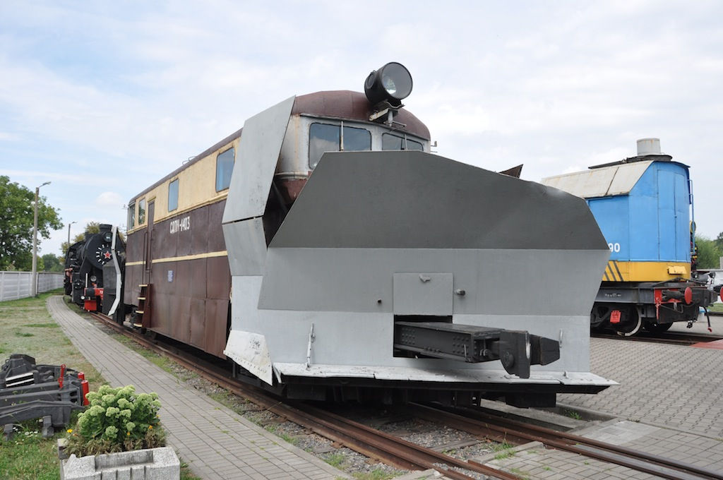 Trein museum in Brest, Belarus. Sneeuwschuiver.