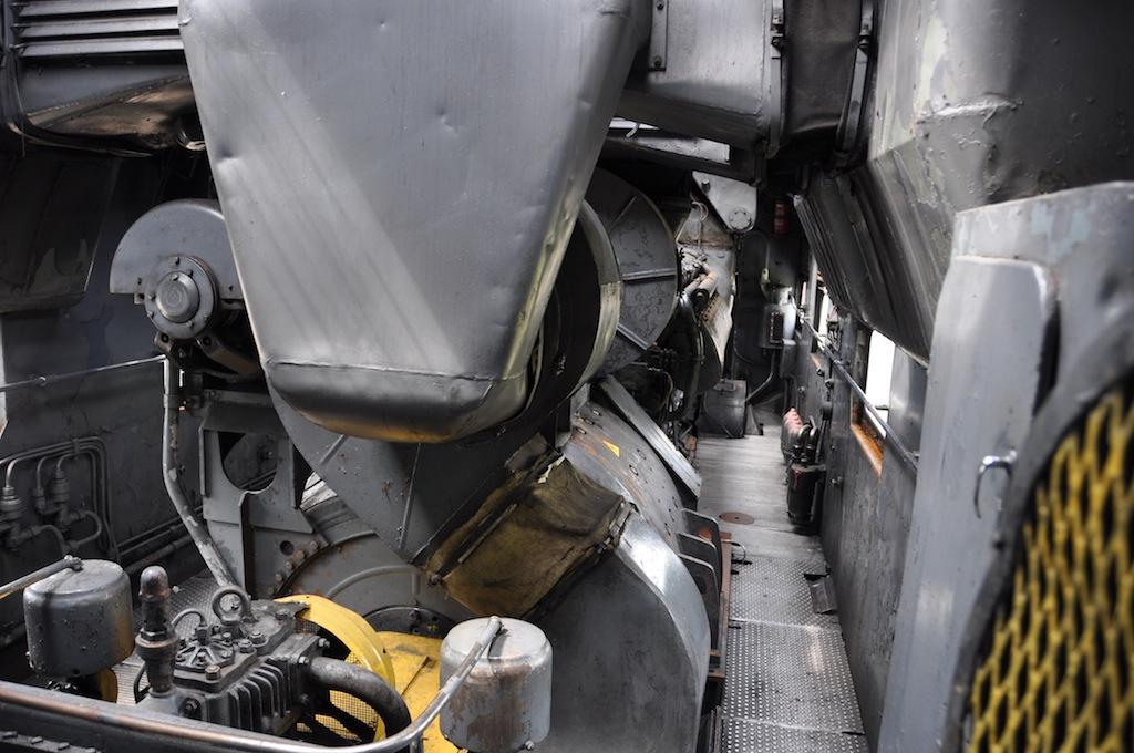 Trein museum in Brest, Belarus (motor ruimte van een trein).