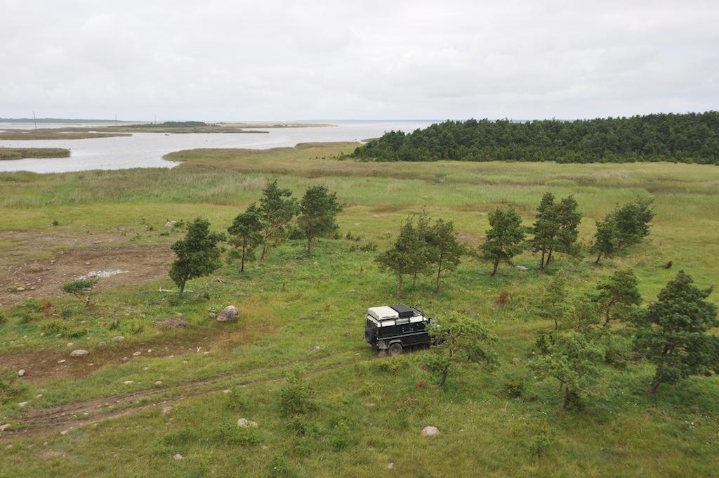 Uitzicht vanuit de uitzichttoren op Saaremaa