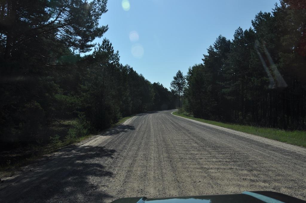 Vaak asfalt soms gravel, Belarus wegen