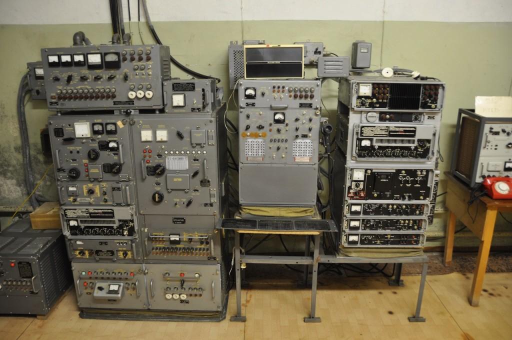Oude communicatiesystemen bunker