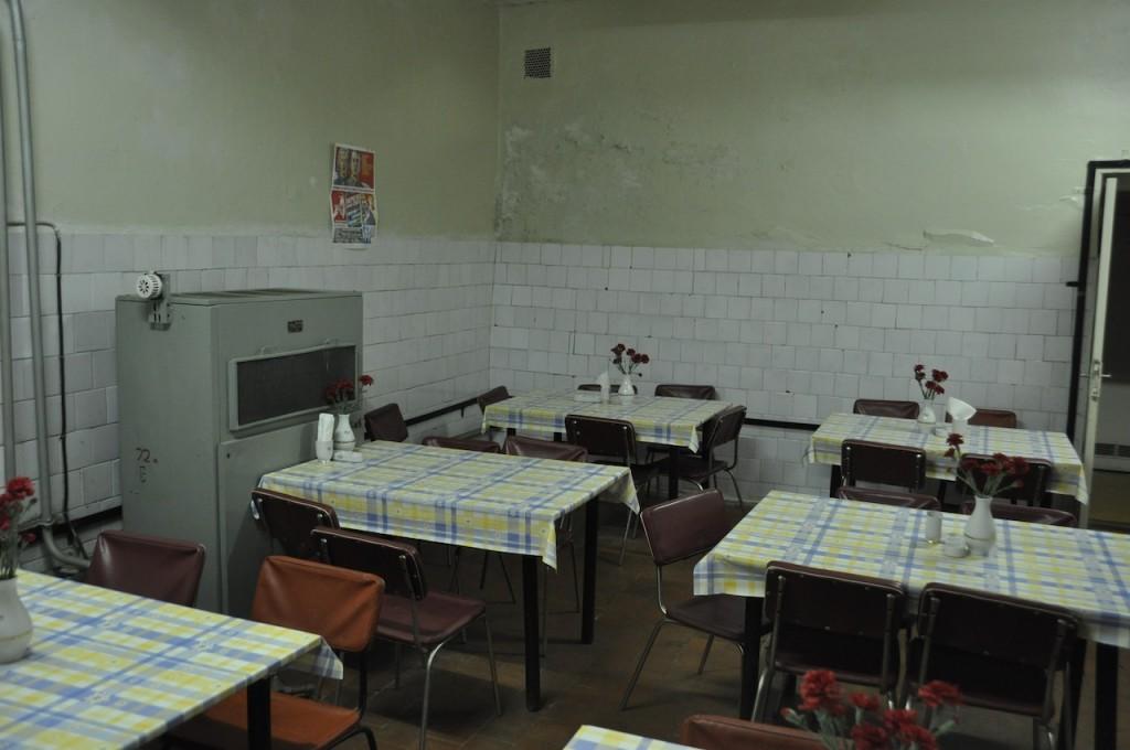 De kantine in de bunker