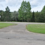 Heli landingsplaats, ofwel een basketbalveld :-)