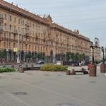 Gebouw op de hoofdstraat van Minsk