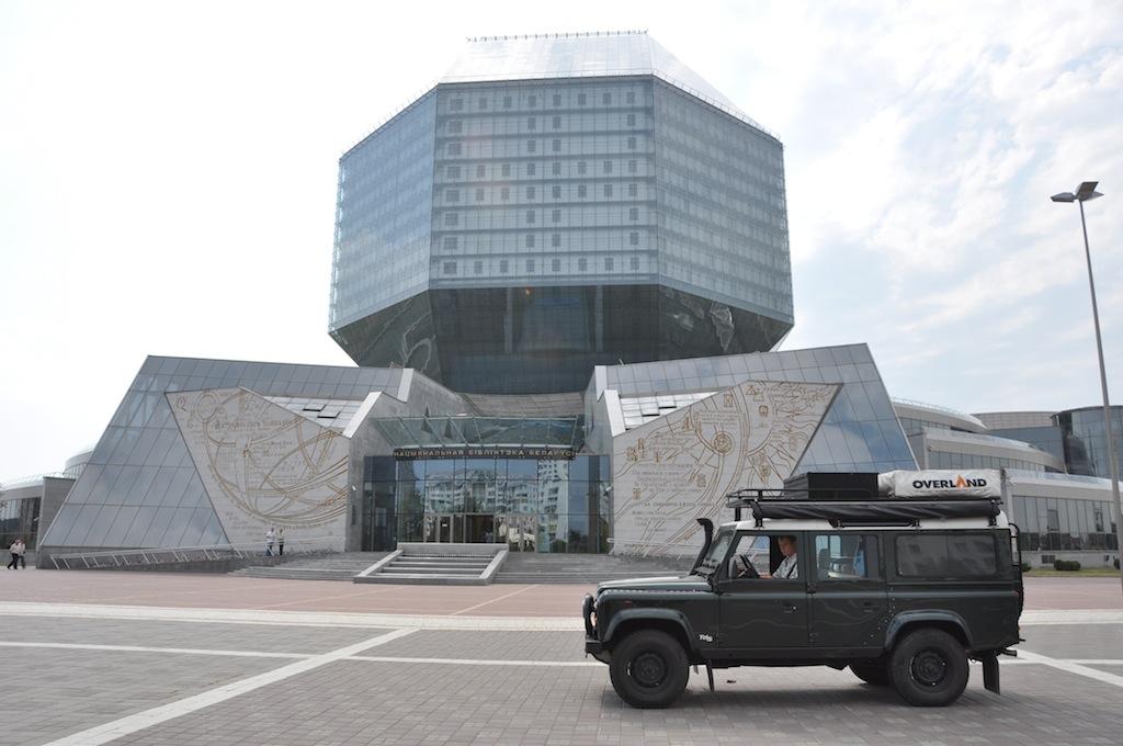 De nationale bibliotheek van Minsk ...