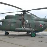 Helicopter in het Stalin Line museum
